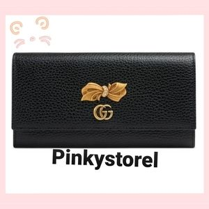 Authentic Gucci Leather continental wallet 🖤